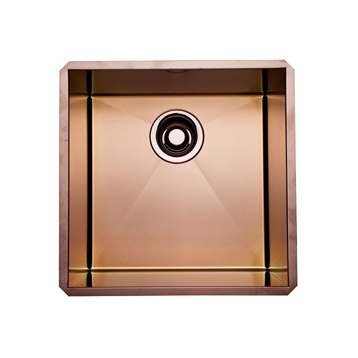 copper kitchen and bathroom fixtures include single bowl luxury stainless copper sink by rohl