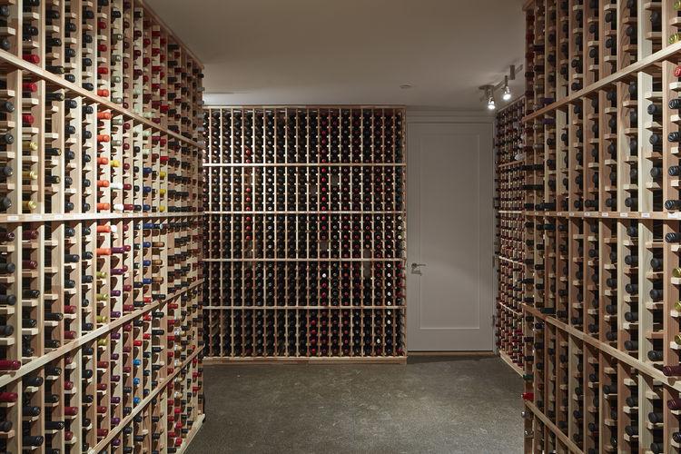 Wine cellar with cork floor in San Francisco remodel by Studio Vara.