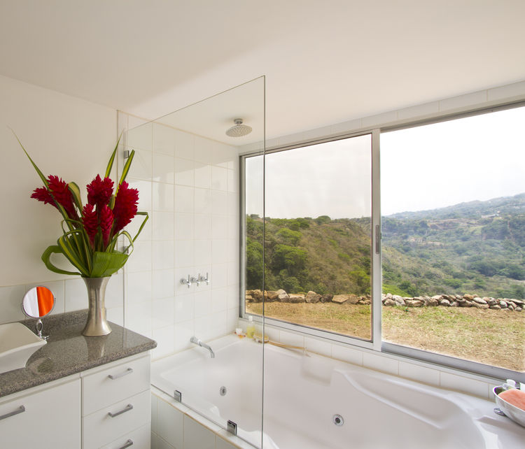 Bathroom views in a Costa Rica container home