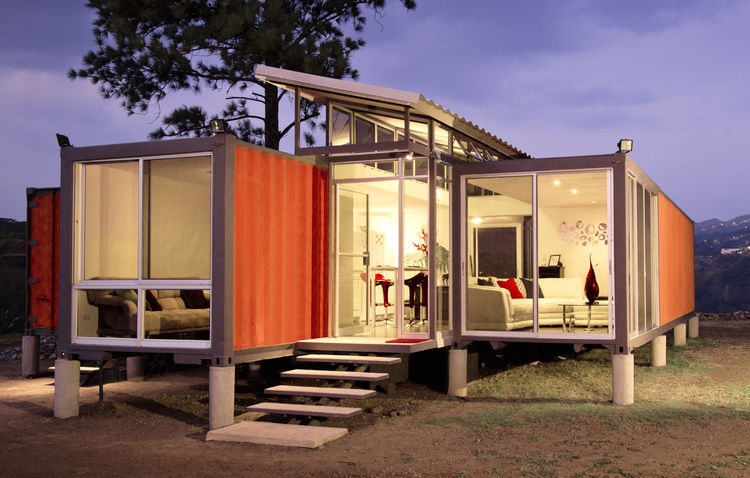 Exterior of a Costa Rica container home