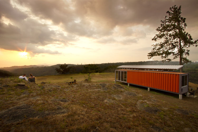 Costa Rica shipping container home and the landscape