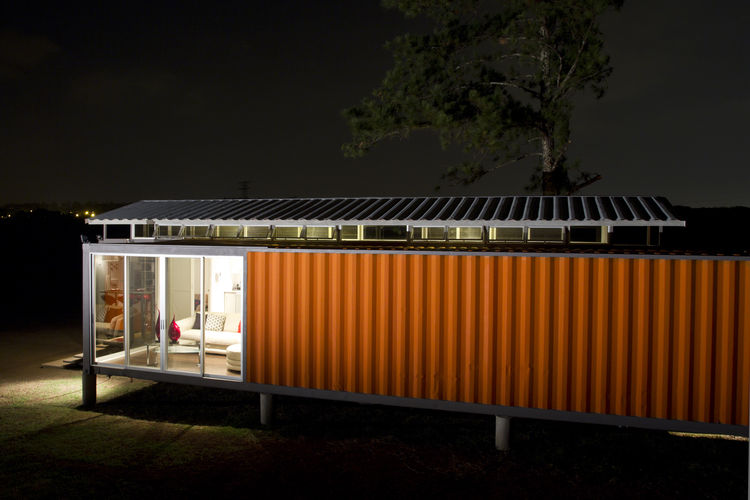 Exterior facade of a Costa Rica shipping container home