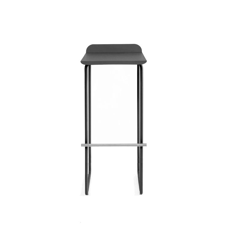 Streamlined stool with contrasting footrest