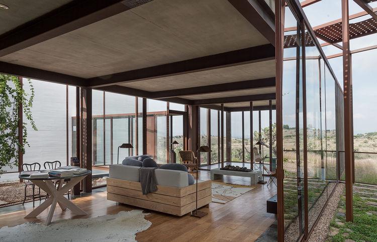 Indoor/outdoor living room in Mexico