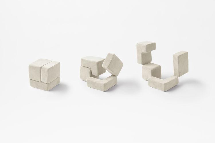 Tetris-like pet toys by Nendo.