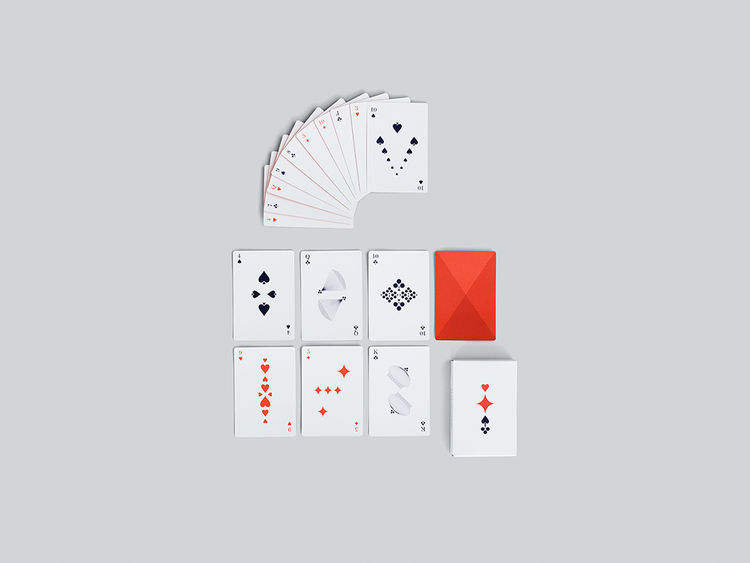 Graphic design playing cards with bold color and design
