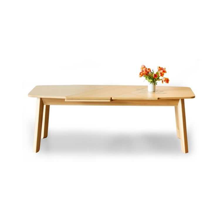 Innovative diagonal expanding dining table