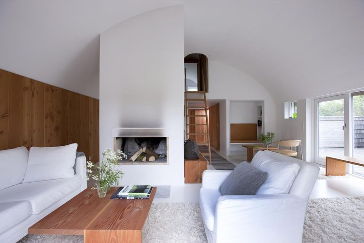 Serene, all-white interior in Denmark