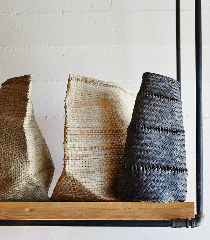Handwoven baskets from Africa at Portland store Anchor & Beam.