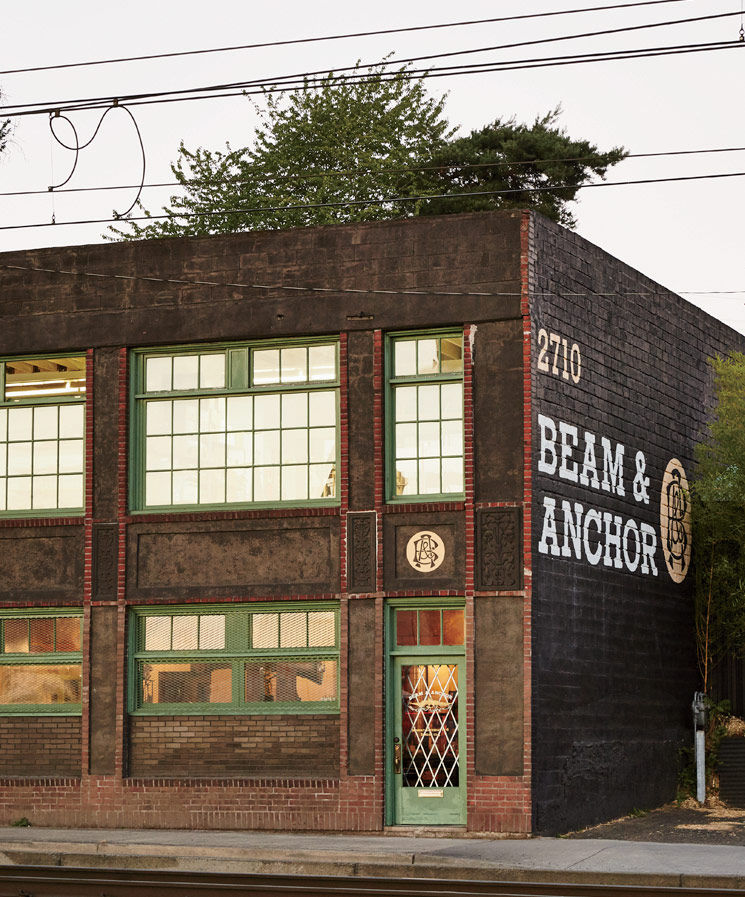 Facade of Beam & Anchor store and incubator in Portland.