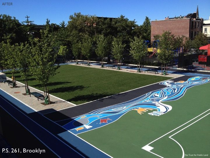 Green playground in Brooklyn by The Trust for Public Land