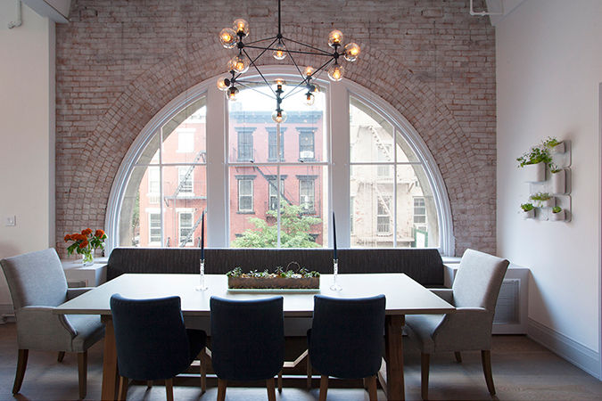 Dwell on Design Manhattan House Tour West Village dining area