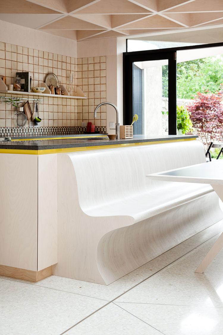Dublin Victorian Extension built-in seating in kitchen