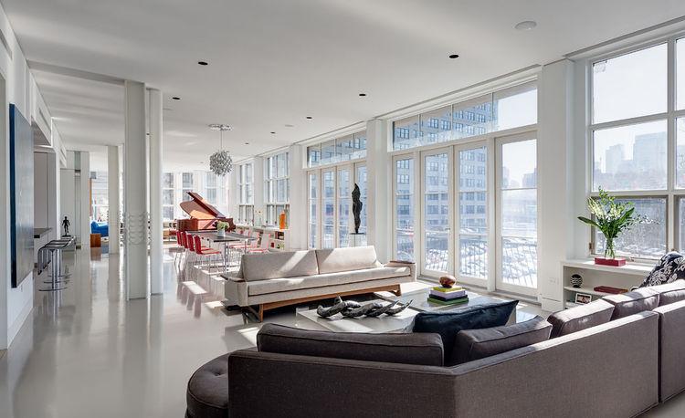 Brooklyn open-plan living area