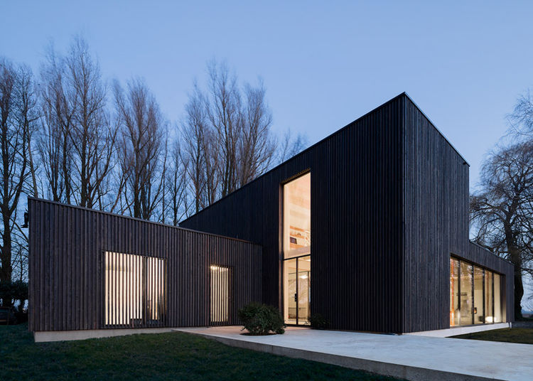 Blackened Timber Dutch Home exterior facade