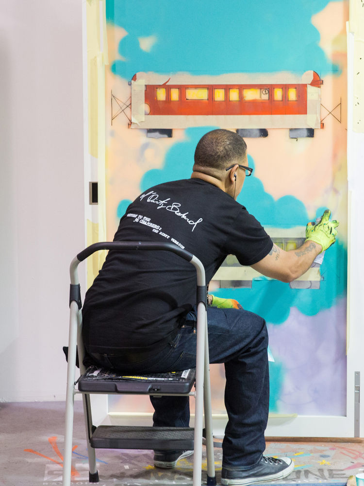Raydoor live-art installation at Dwell on Design New York 2015.
