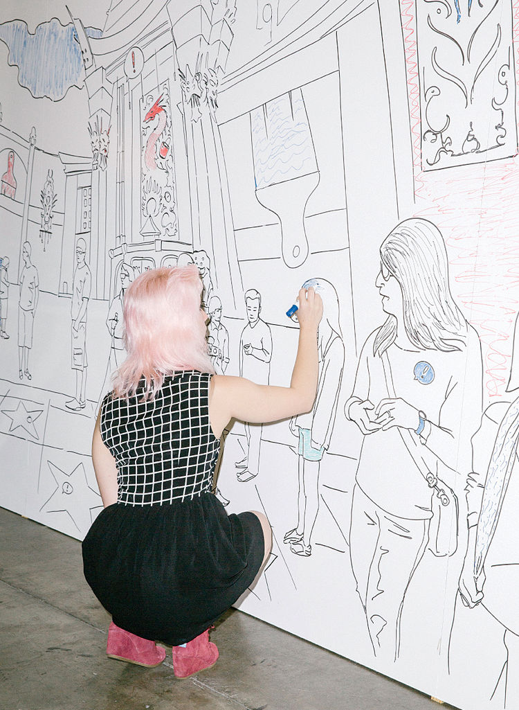 IdeaPaint dry-erase coloring wall