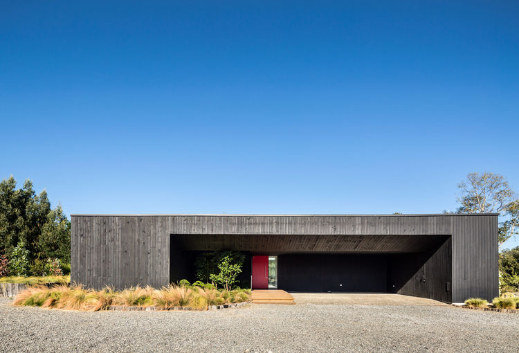 Facade of a home in Chile.