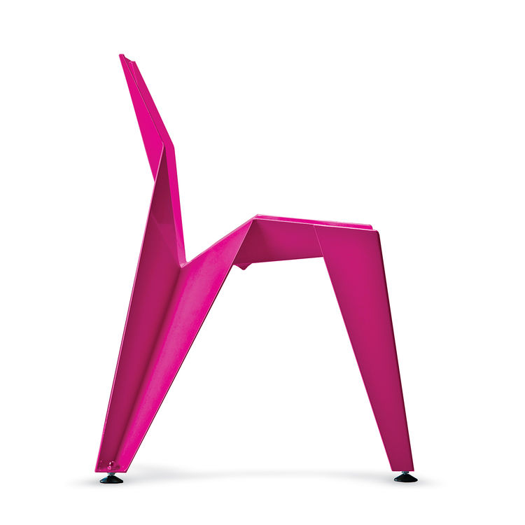 edge stackable chair novague aluminum