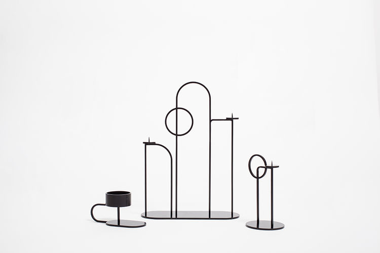 EQ3 Assembly candle holders by Dylan McKinnon
