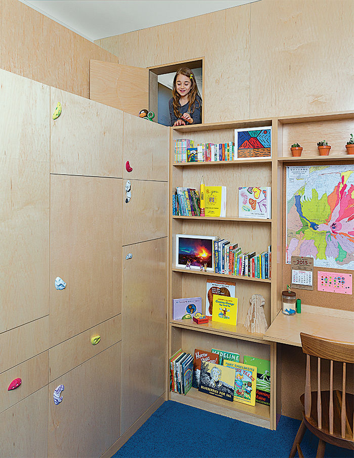 Family Matters kid's room with secret passage.