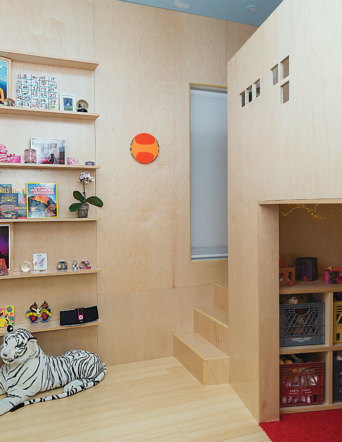 Family Matters kid's room eco-friendly plywood.