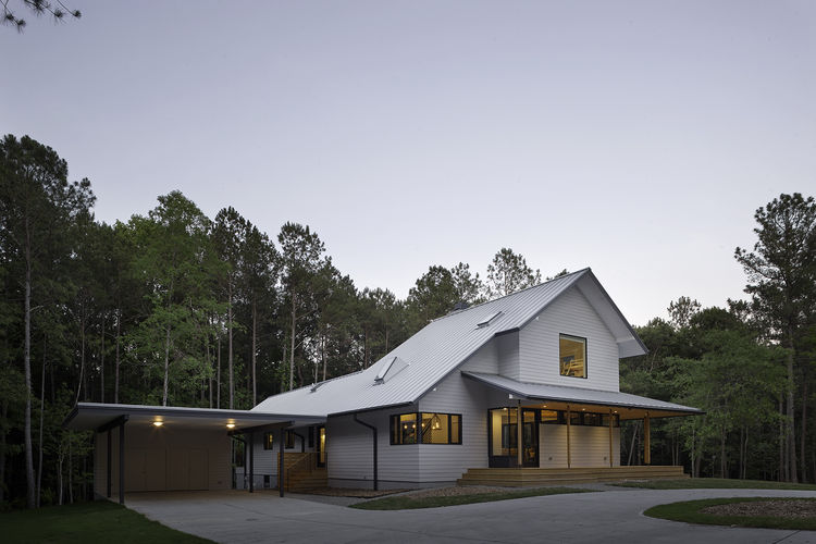 VELUX skylights on modern-rustic home.