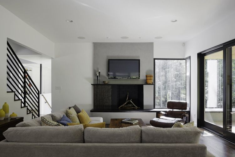Precedent sectional sofa in modern living room.