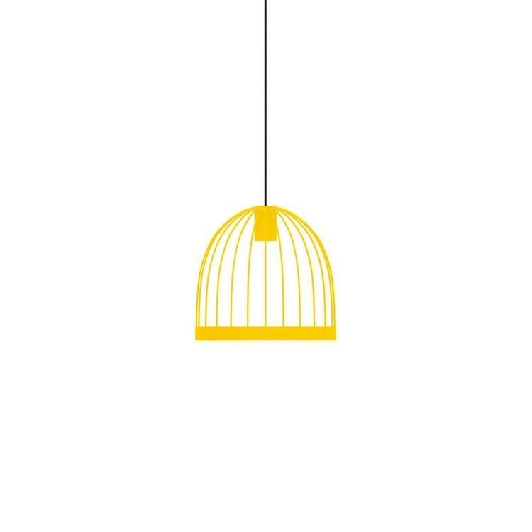 Cheerful powder-coated birdcage style pendant light