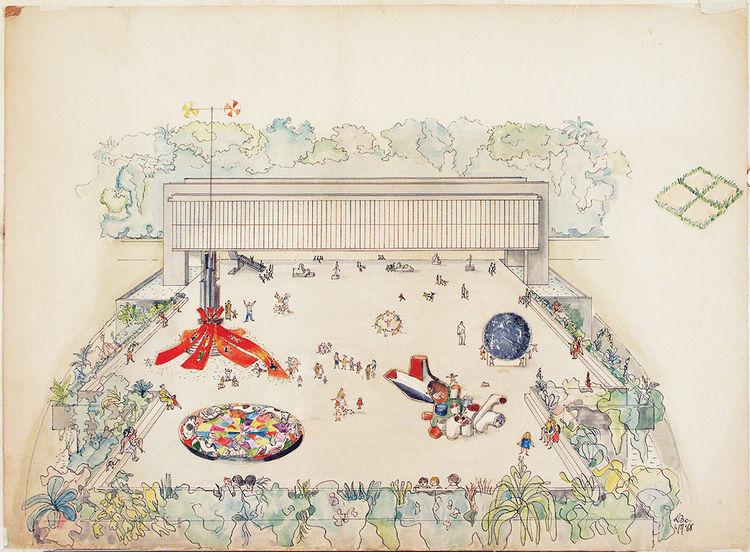 Lina Bo Bardi study for Trianon Terrace