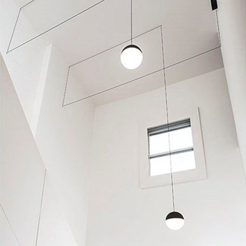 Distinctive and geometric pendant light with string