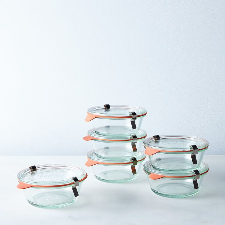 Glass clamped weck bowls from Mountain Feed and Farm Supply