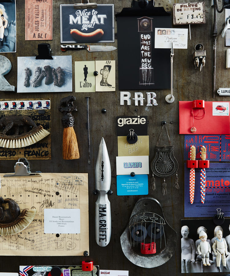Paris designer's collection of beloved objects.