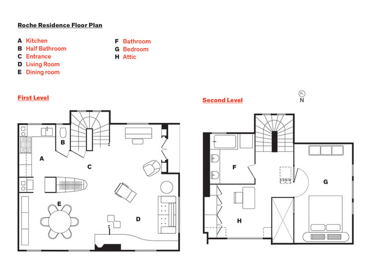 Floor plan of Nicolas Roche's Paris apartment