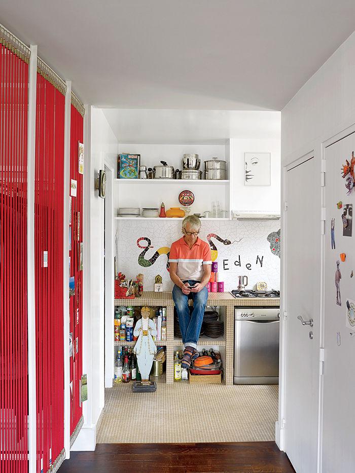 Kitchen in Nicolas Roche's Paris apartment