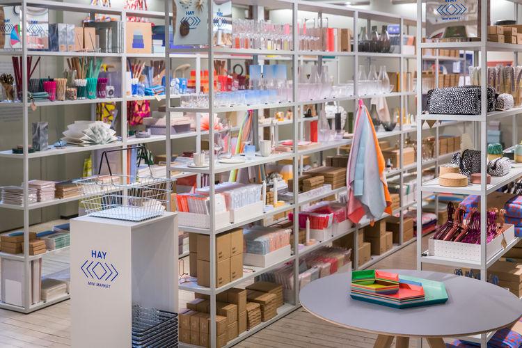 HAY Mini Market at the MoMA Design Store in Soho, Manhattan, New York City.