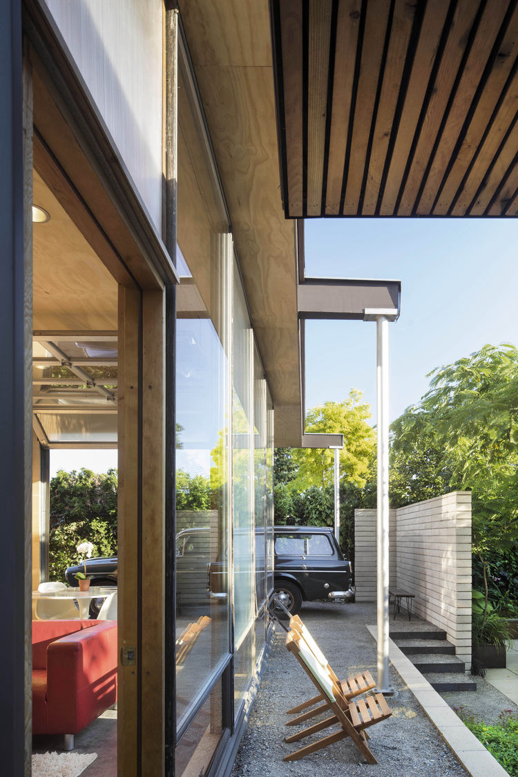 Crushed stone carport in Seattle
