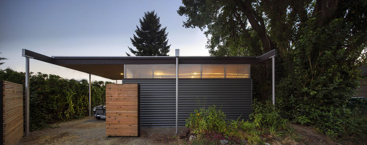 Corrugated steel carport in Seattle