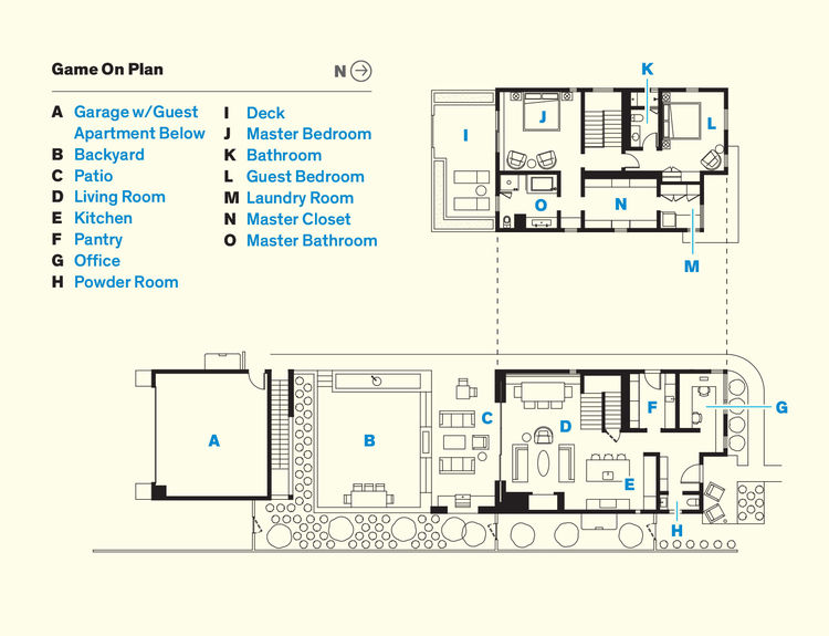 Floor plans of the Aspen, Colorado cabin home.