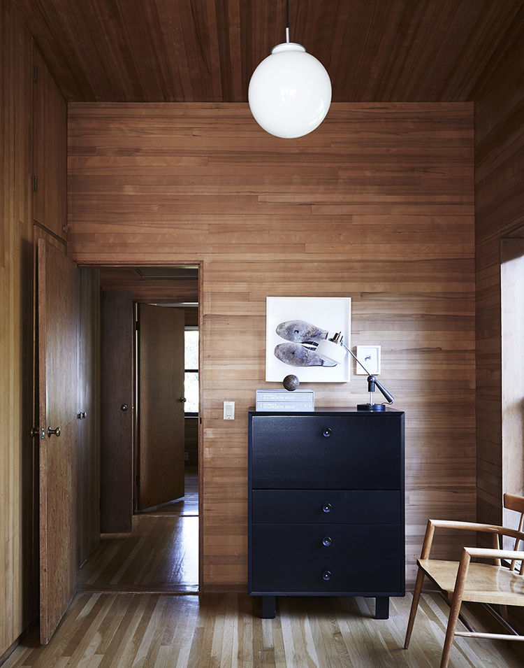 George Nelson cabinet in a midcentury house in California