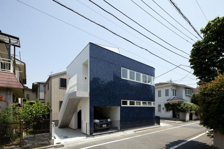 Half & Half House Exterior Rear Facade, Tokyo