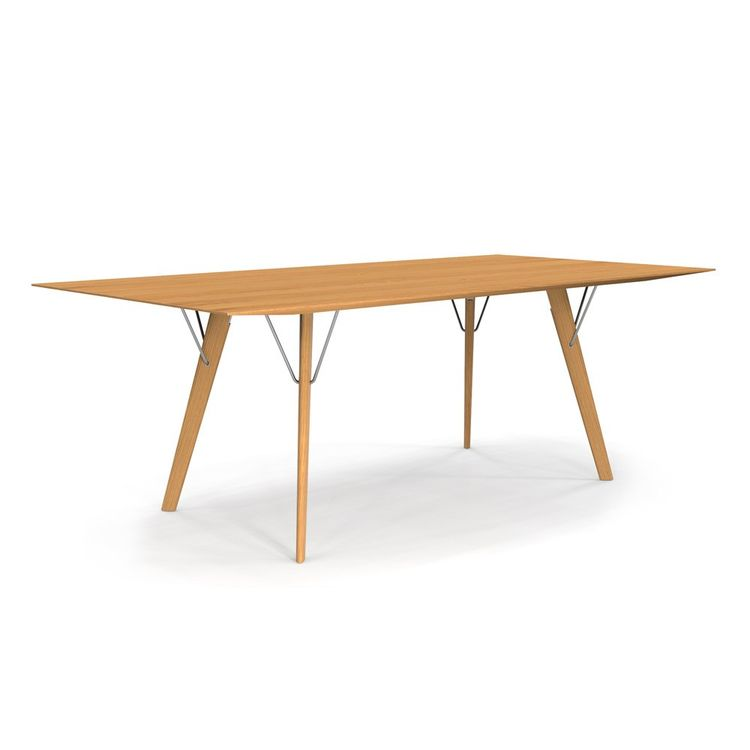 Sleek modern dining table with metal supports