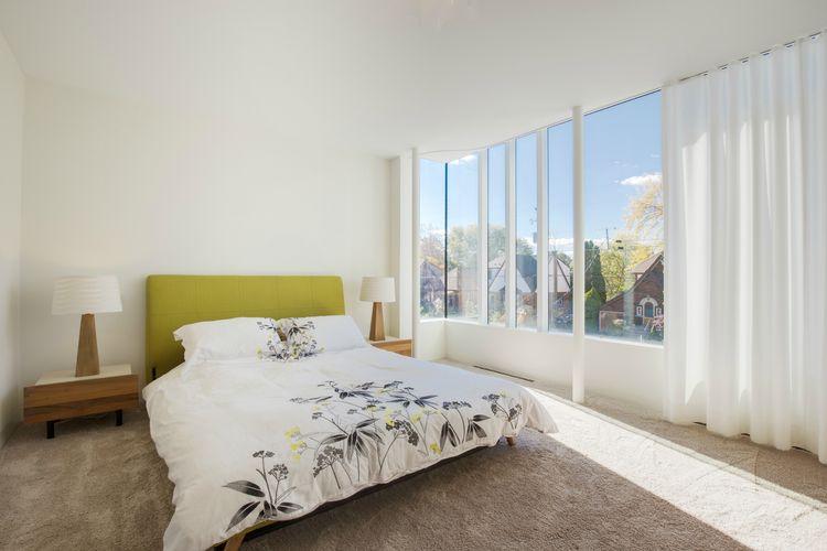 TrueModern's Dane Collection bed in Ontario bedroom.