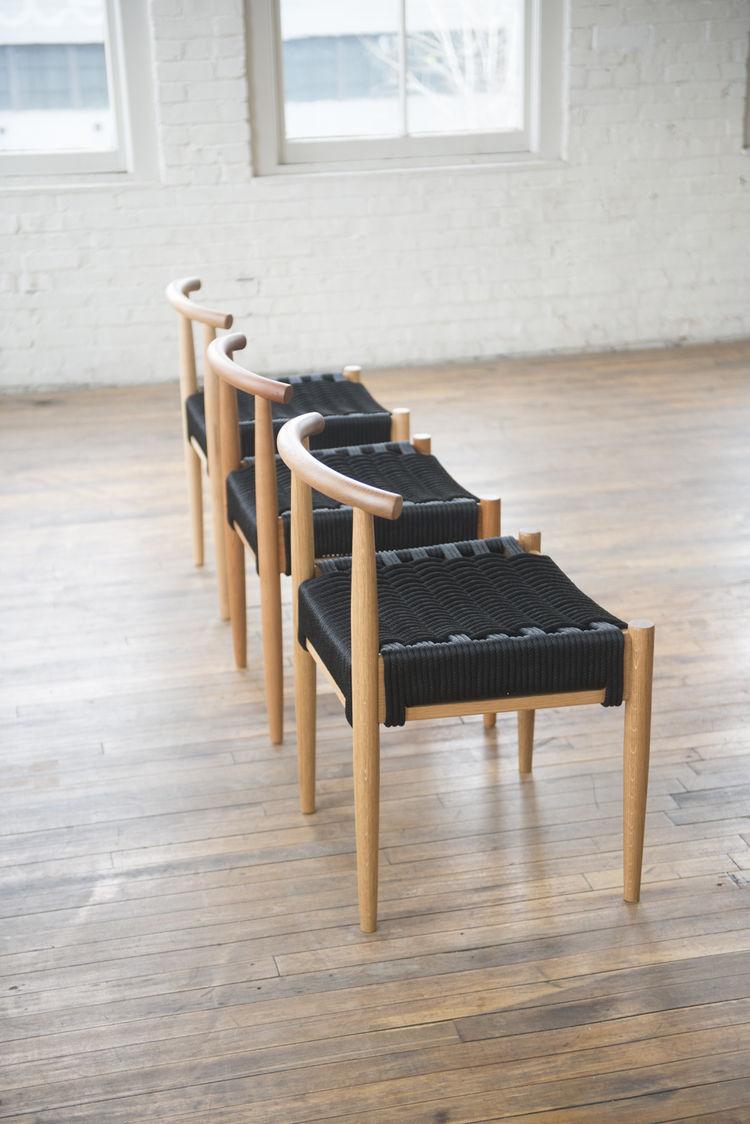 Woven Harbor chair by Phloem Studio