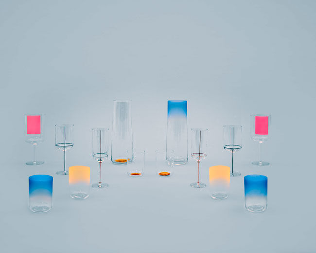 Scholten & Baijings for Danish brand HAY, the Colour Glass Collection