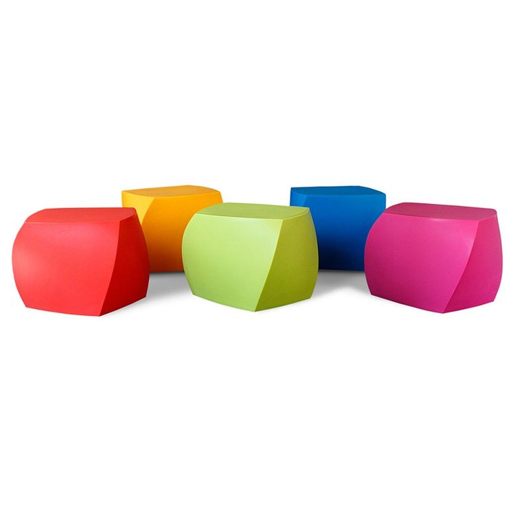 Colorful indoor outdoor cubes