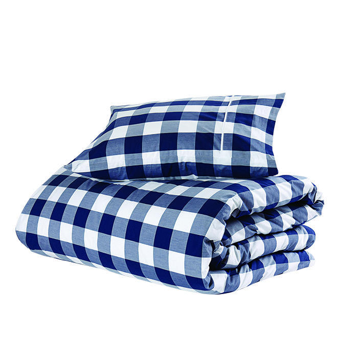 q&A with Modern design leaders like Byron Peart of Want Les Essentiels de la Vie who recommends the Original Duvet Cover in blue check by Hastens as his bedding