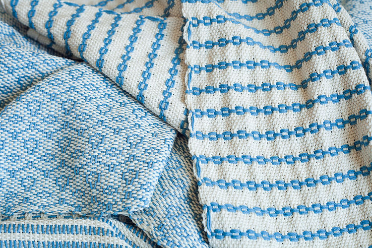 Q&A with Modern design leaders like Claudia and Harry Washington who recommend lourdes mena qumbo indigo blanket