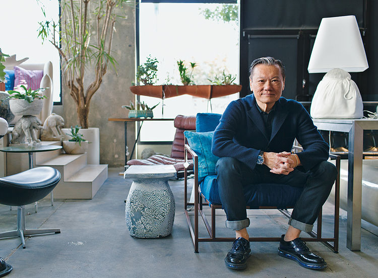 Q&A with Modern design leaders like Joel Chen, antiques dealer portrait