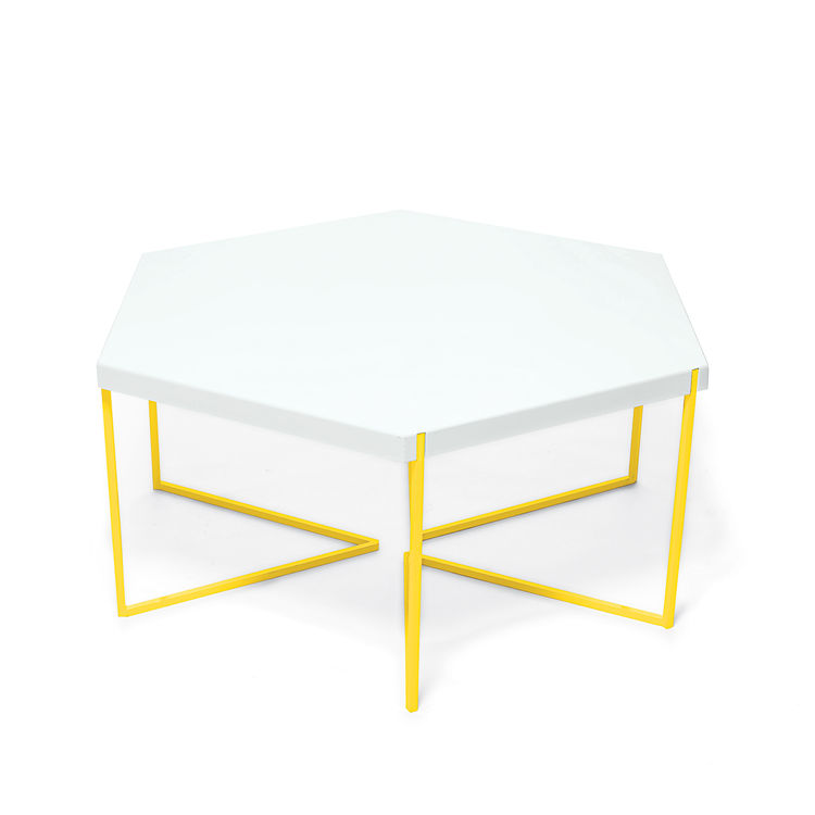 hex coffee table nine6 steel hexagon